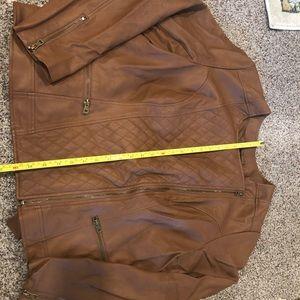 Lane Bryant Tan Faux Leather Jacket Size 18-20